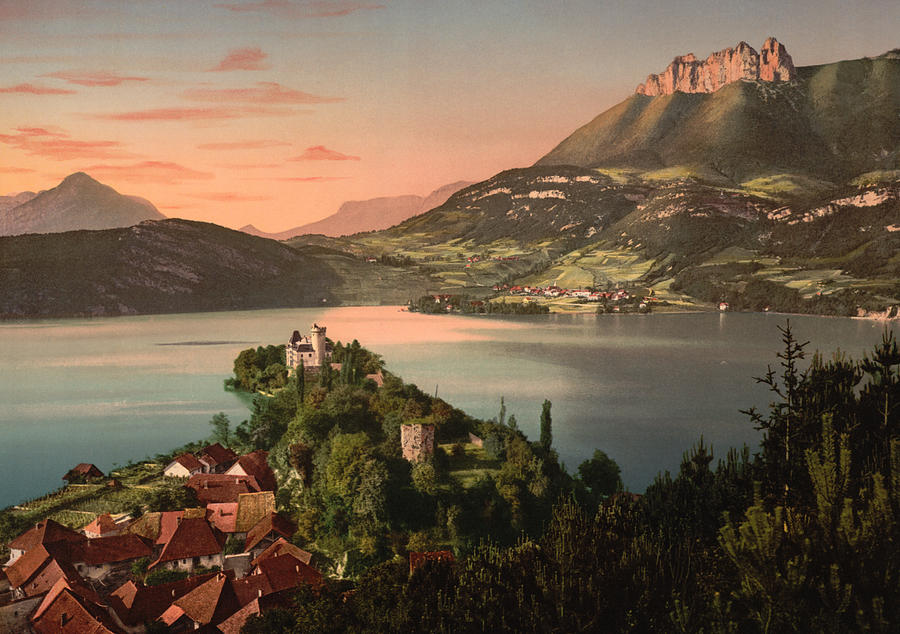 Annecy France - Chateau De Duingt Photograph