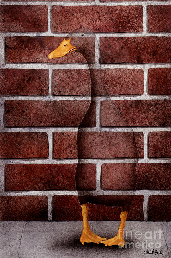 Another Brick In The Wall... Painting  - Another Brick In The Wall... Fine Art Print