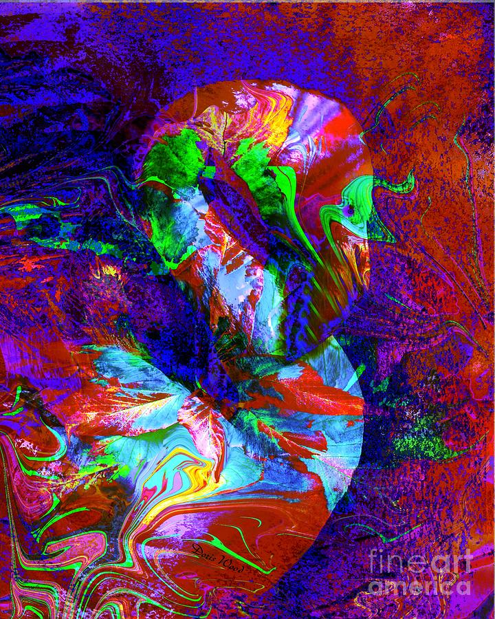 Abscrate Digital Art - Another Colorful Flamingo by Doris Wood
