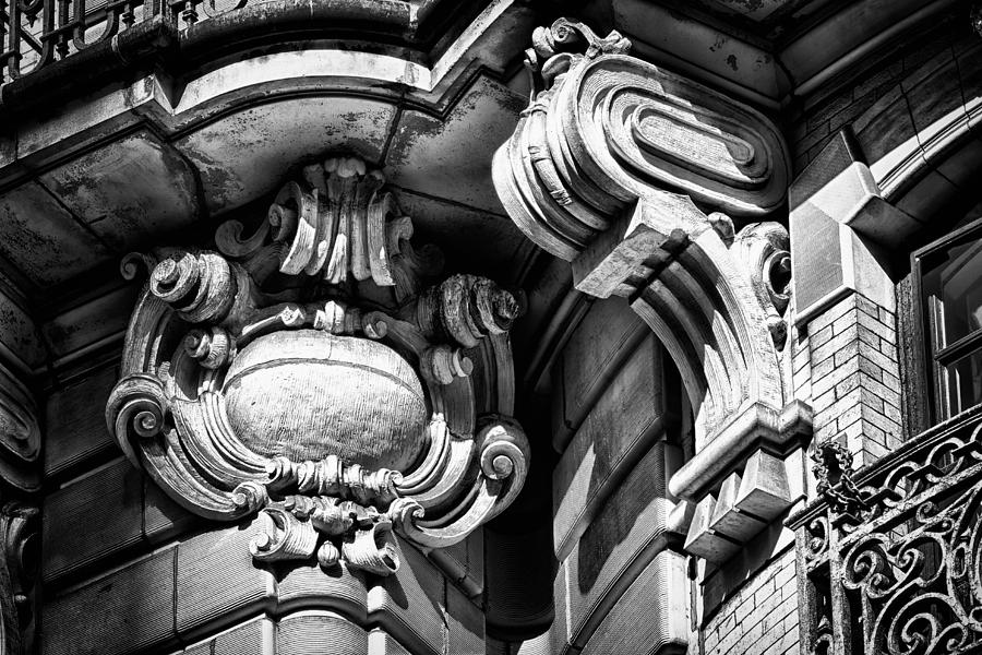 Us Photograph - Ansonia Building Detail 39 by Val Black Russian Tourchin