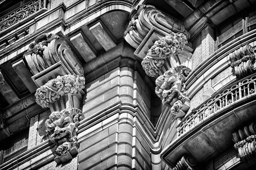 Us Photograph - Ansonia Building Detail 42 by Val Black Russian Tourchin