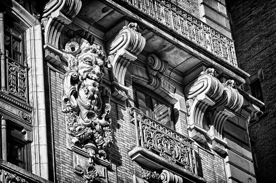 Us Photograph - Ansonia Building Detail 6 by Val Black Russian Tourchin
