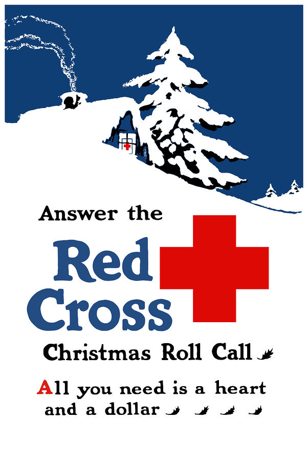 Answer The Red Cross Christmas Roll Call Painting  - Answer The Red Cross Christmas Roll Call Fine Art Print