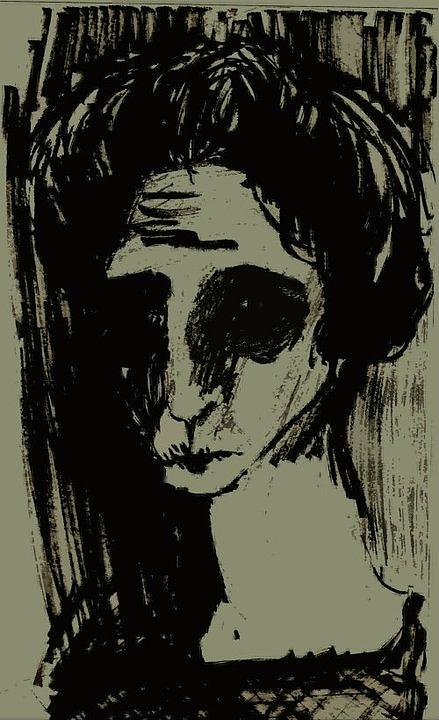 Lithography Painting - Antemortem by Nesli Sisli