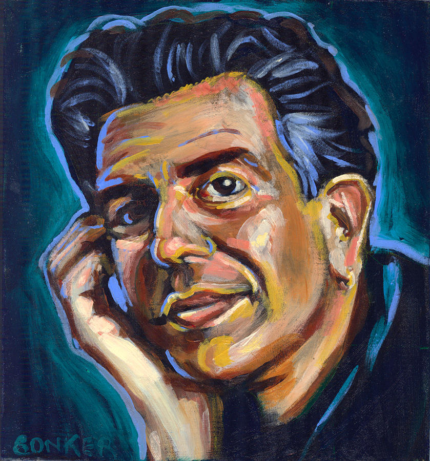 Anthony Bourdain Painting  - Anthony Bourdain Fine Art Print