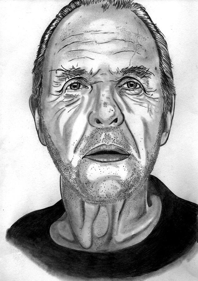 Anthony Hopkins  Drawing  - Anthony Hopkins  Fine Art Print