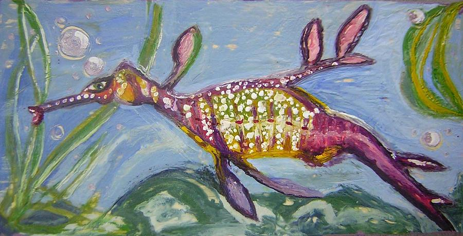 Anthropomorphic Sea Dragon 2 Painting  - Anthropomorphic Sea Dragon 2 Fine Art Print