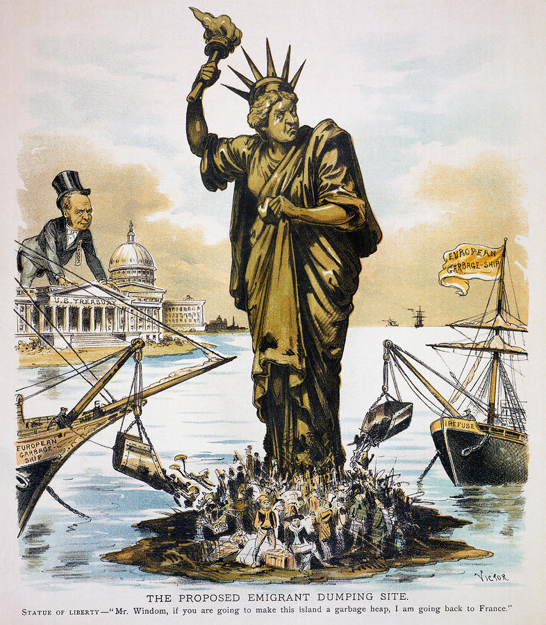 Anti-immigration Cartoon Photograph