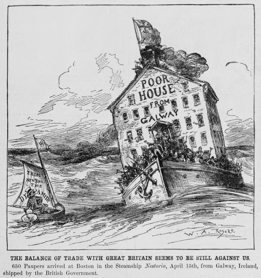 Anti-immigration Cartoon Of 1883 by Everett