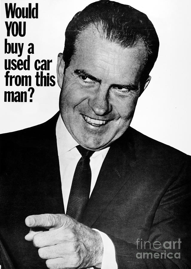Anti-nixon Poster, 1960 Photograph  - Anti-nixon Poster, 1960 Fine Art Print