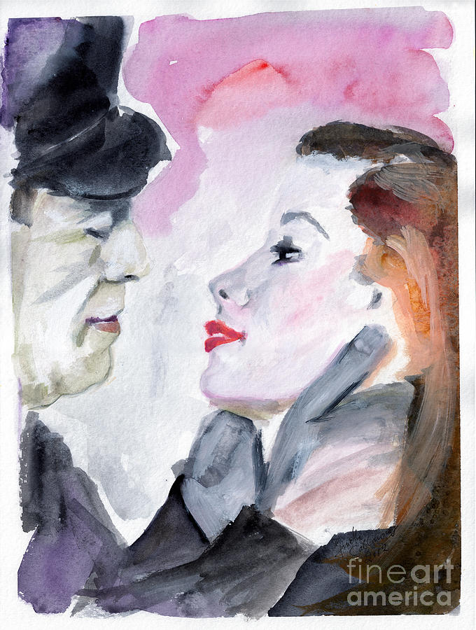 Bogart Painting - Anticipation Of A Kiss  by Ginette Callaway