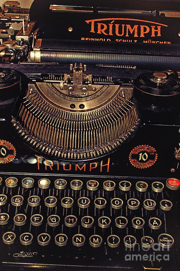 Photo Photograph - Antiquated Typewriter by Jutta Maria Pusl
