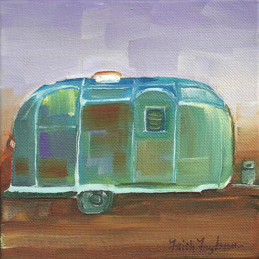Antique Airstream Painting