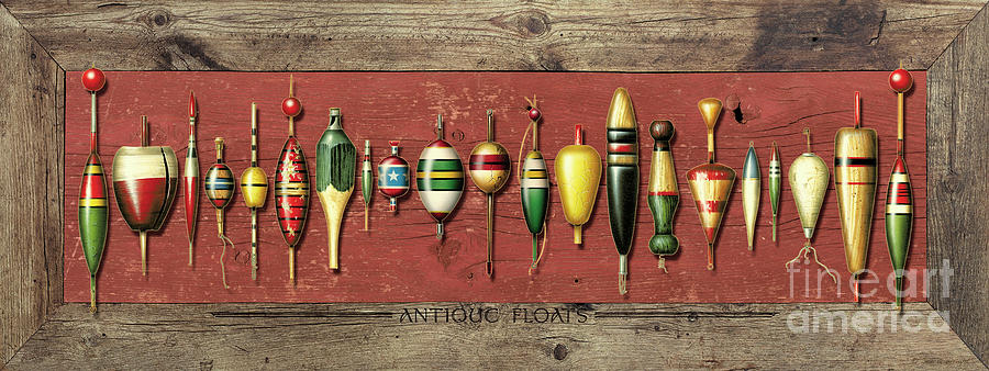 Antique Bobbers Painting  - Antique Bobbers Fine Art Print
