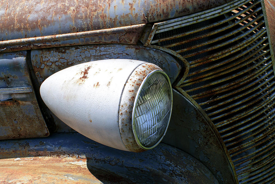 Antique Car Headlight Photograph