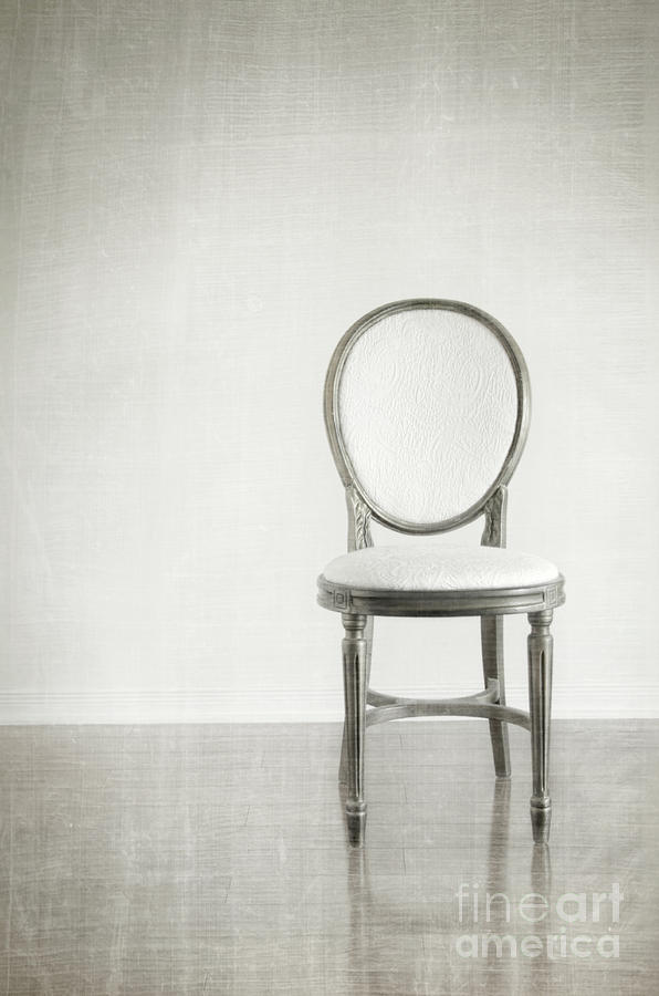Antique Chair With Grunge Style Background Photograph  - Antique Chair With Grunge Style Background Fine Art Print
