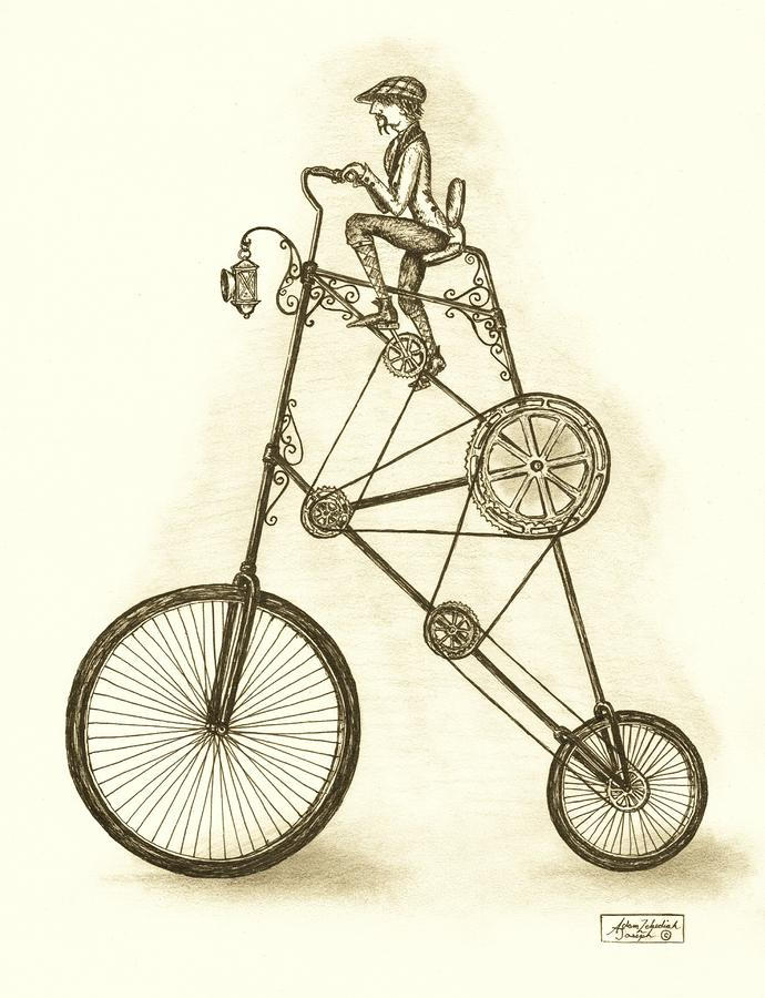 Antique Contraption Drawing  - Antique Contraption Fine Art Print