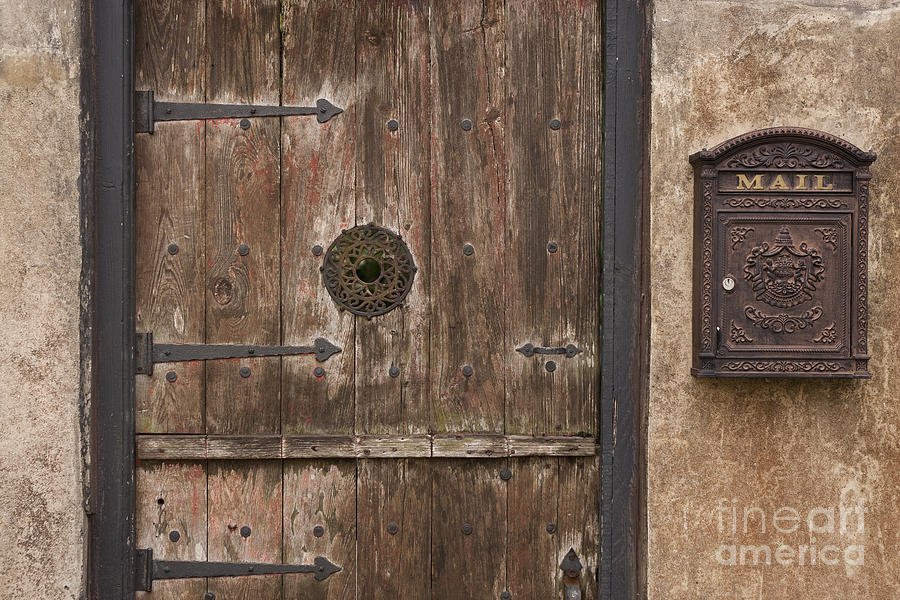 Antique Dutch Door And Mailbox Photograph