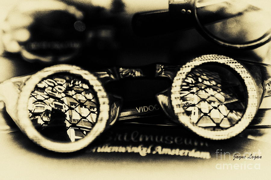 Antique Eyeglasses Steampunk Photograph  - Antique Eyeglasses Steampunk Fine Art Print