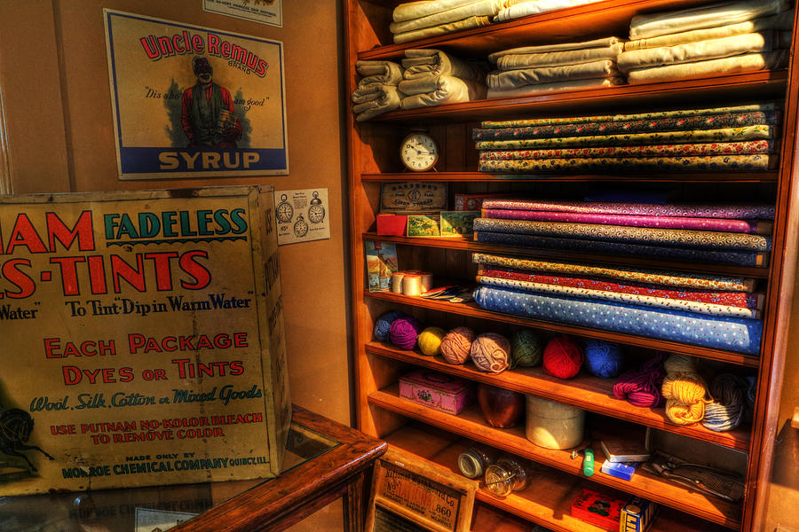Lee Dos Santos Photograph - Antique General Store Linen - General Store - Vintage - Nostalgia by Lee Dos Santos