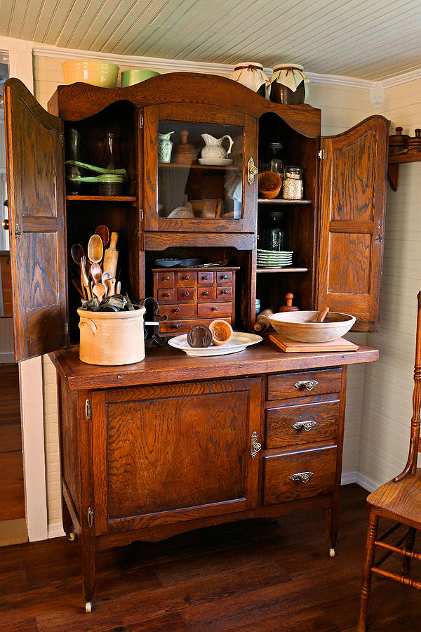 Hoosier Cabinet Photograph Antique Hoosier Cabinet By Carmen Del