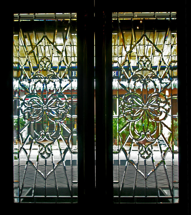 Antique lead glass doors by mark sellers for Old glass doors
