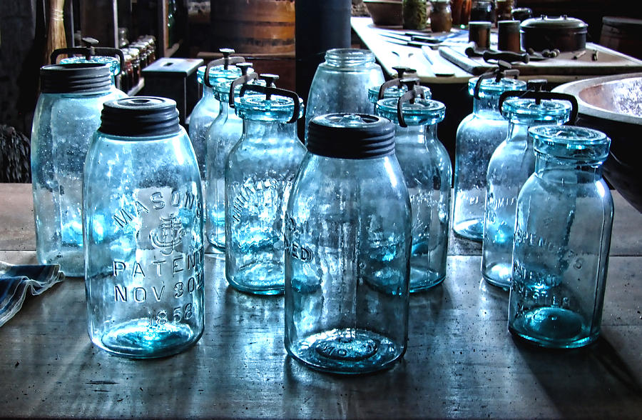 Antique Mason Jars Photograph  - Antique Mason Jars Fine Art Print