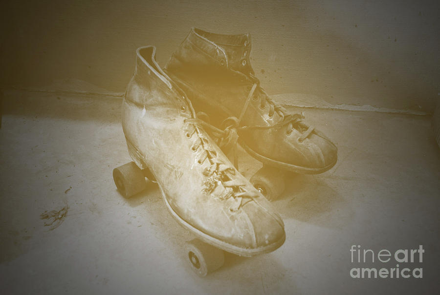 Antique Roller Skates Photograph