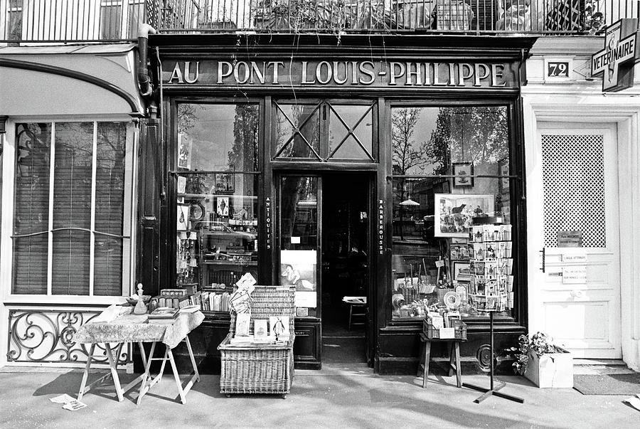 Antique Shop Paris France Photograph