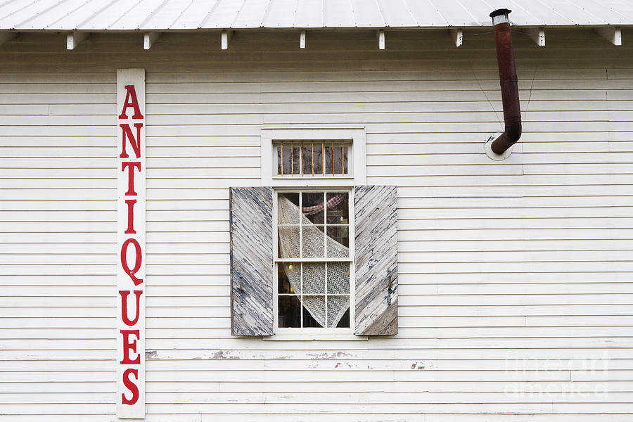 Antique Store Facade Photograph  - Antique Store Facade Fine Art Print