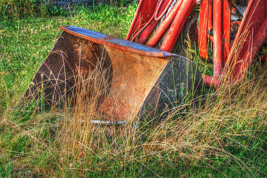 Antique Tractor Bucket Photograph  - Antique Tractor Bucket Fine Art Print