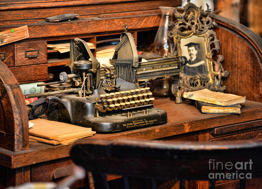 Antique Typewriter Photograph  - Antique Typewriter Fine Art Print