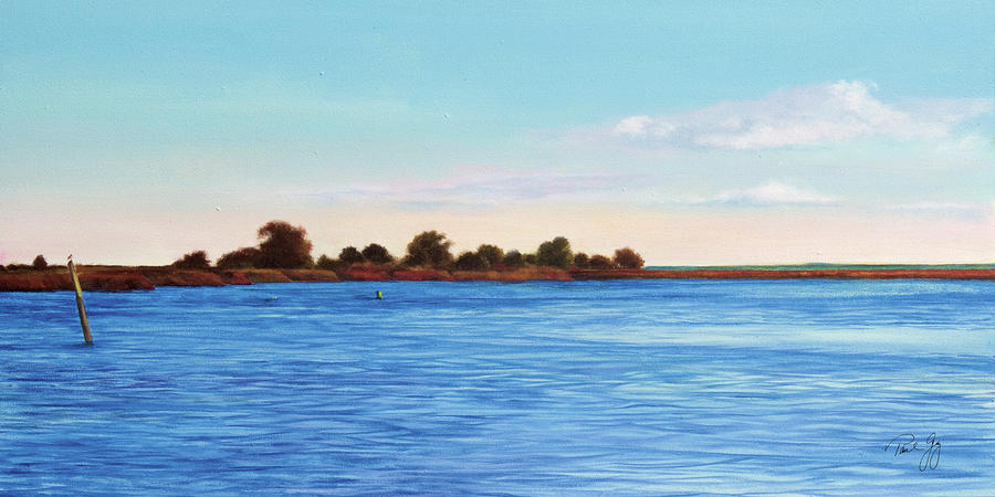 Apalachicola Bay Autumn Morning Painting  - Apalachicola Bay Autumn Morning Fine Art Print