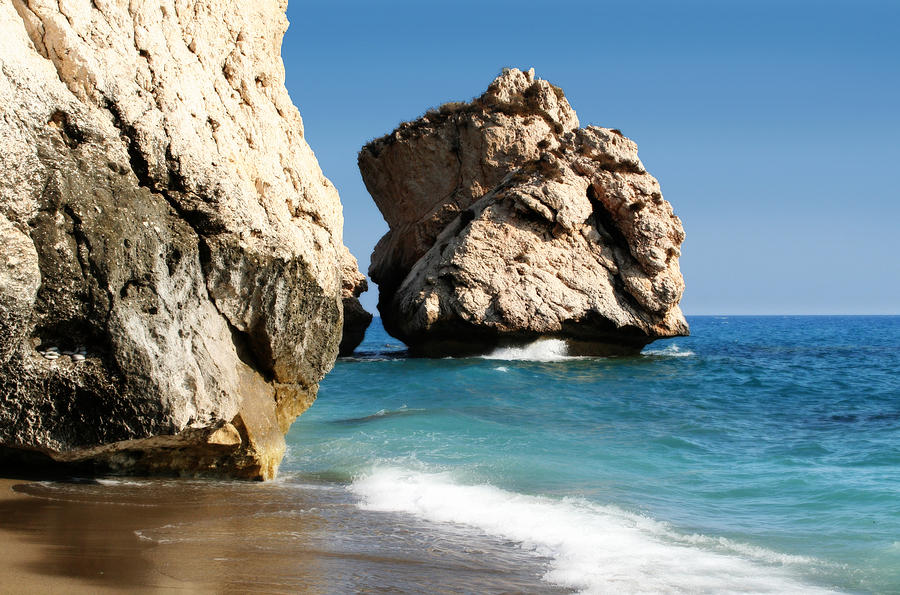 Aphrodite Photograph - Aphrodite Rock Cyprus by Julie L Hoddinott