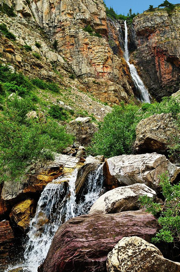 Apikuni Falls Photograph - Apikuni Falls by Greg Norrell