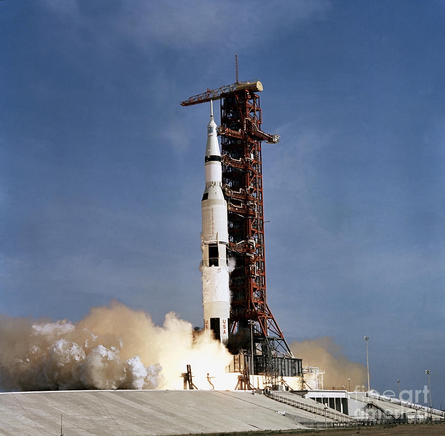 Apollo 11 Space Vehicle Taking Photograph by Stocktrek Images