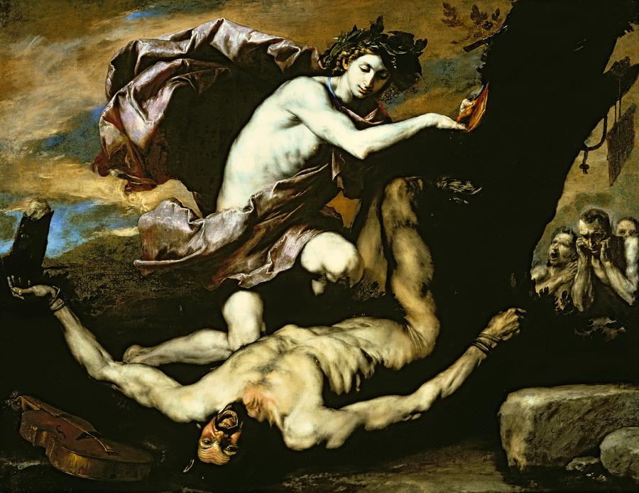 Apollo And Marsyas Painting