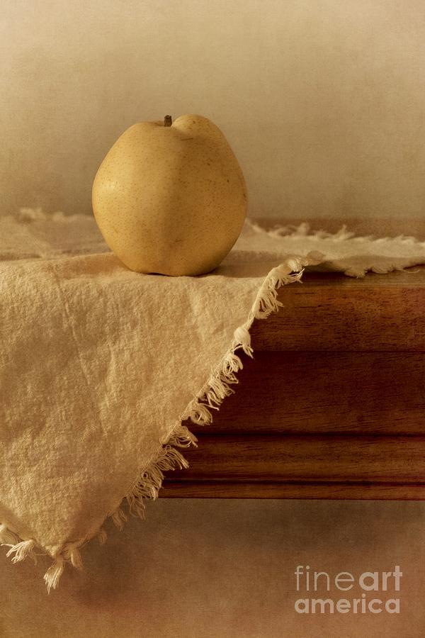 Apple Pear On A Table Photograph
