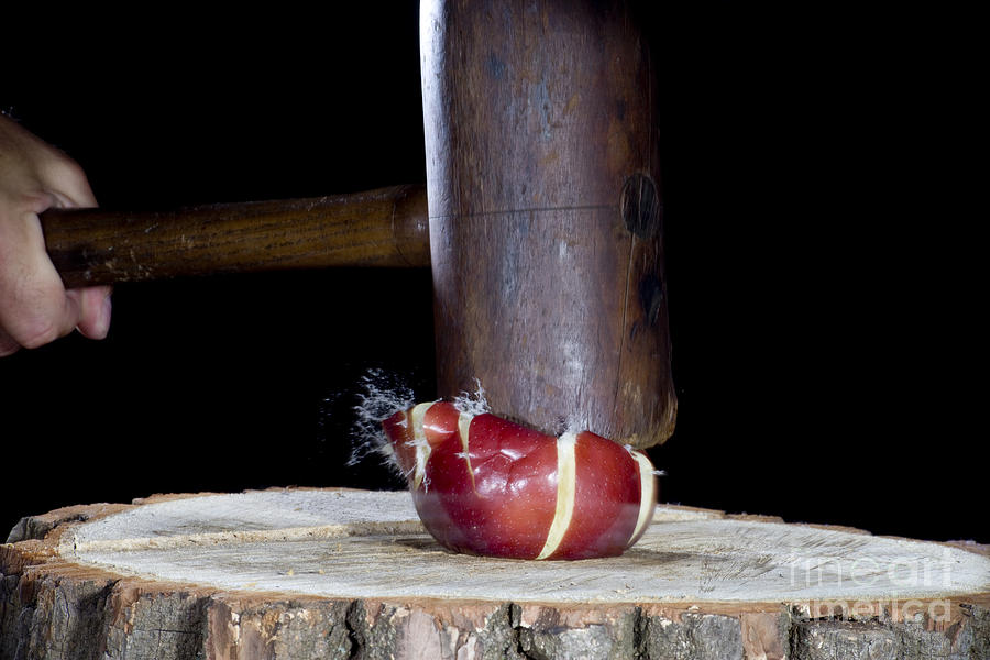 Apple Smashed With Mallet Photograph