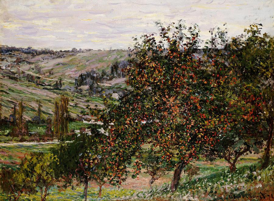 Apple Trees Near Vetheuil Painting