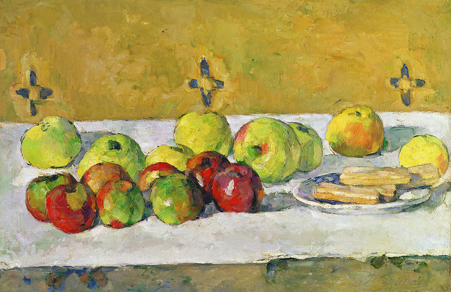 Apples And Biscuits Painting