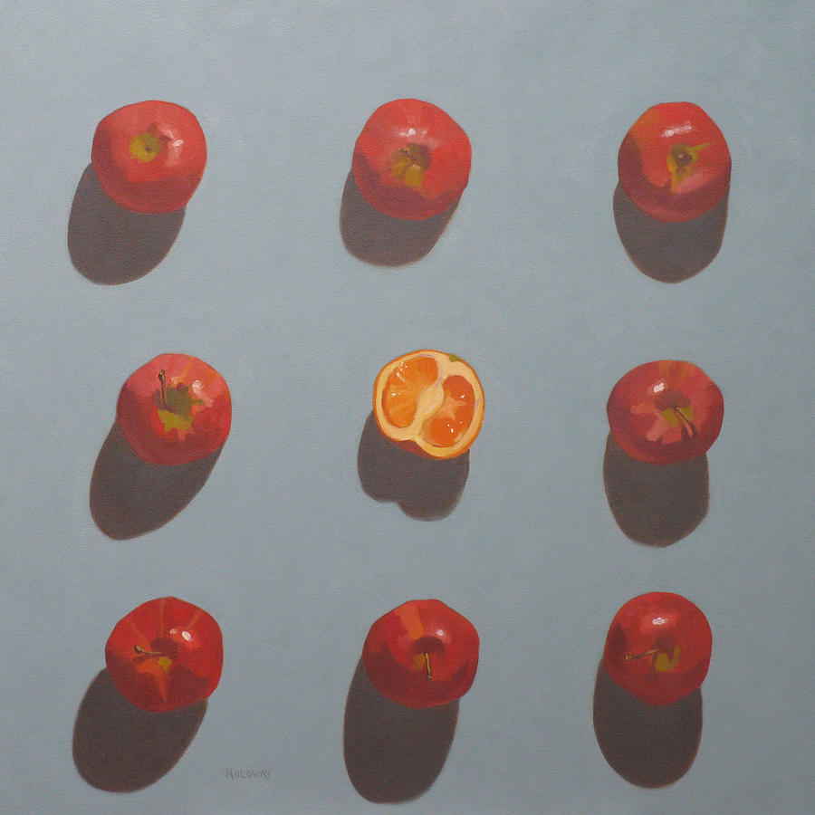 Apples And Orange Painting  - Apples And Orange Fine Art Print