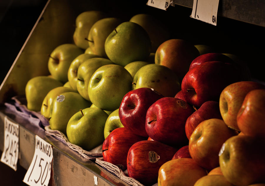 Apples For Sale On Fruit Stand Photograph