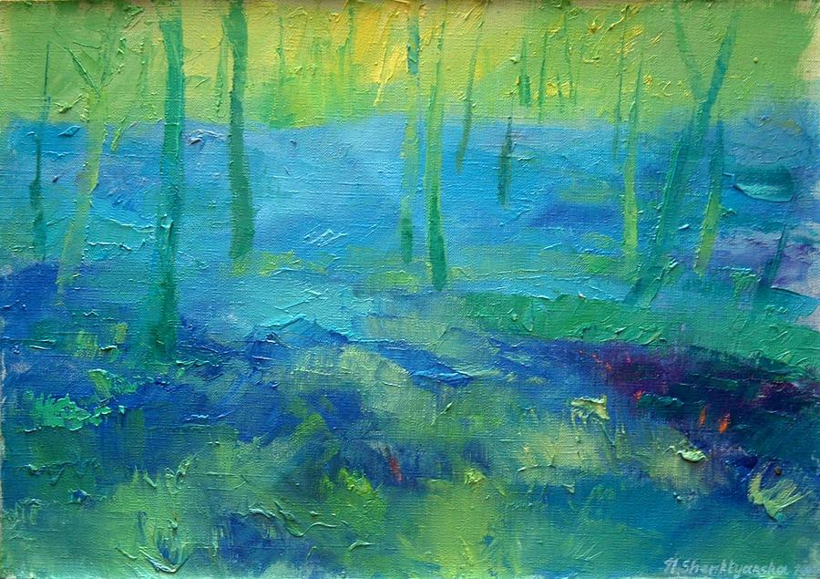 Art Painting - April by Nelya Shenklyarska