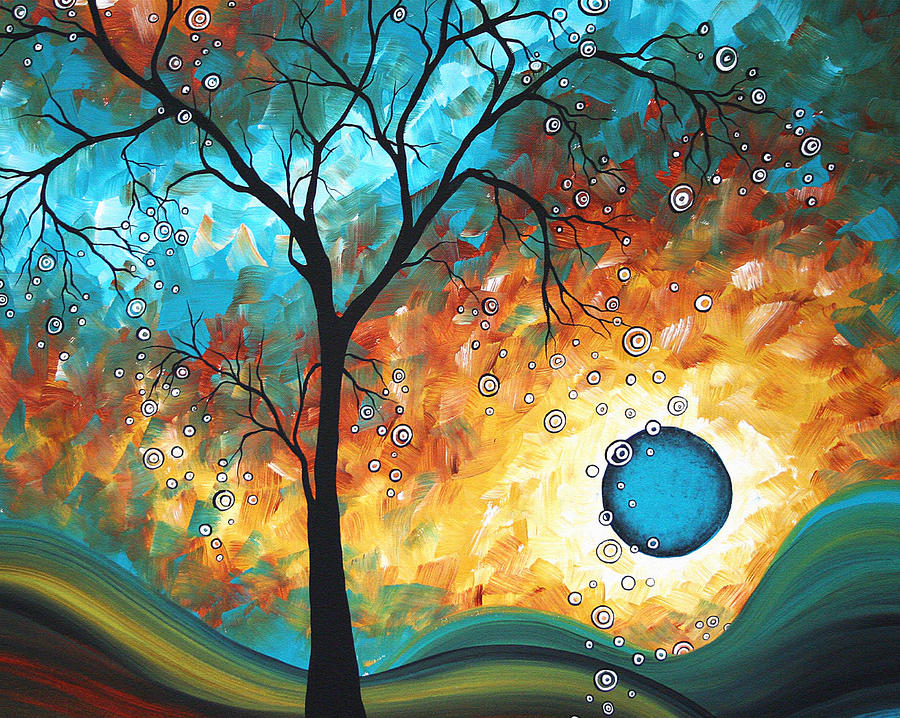 Aqua Burn By Madart Painting