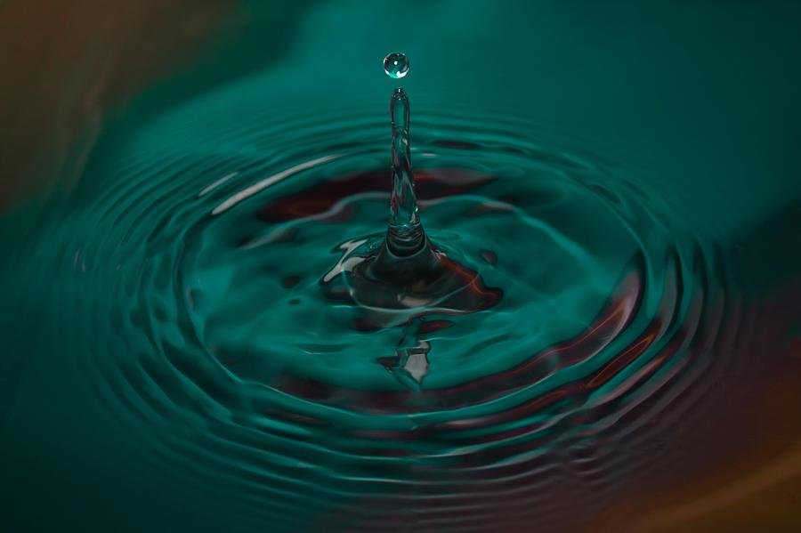 Drop Photograph - Aqua Drop by Nadya Ost