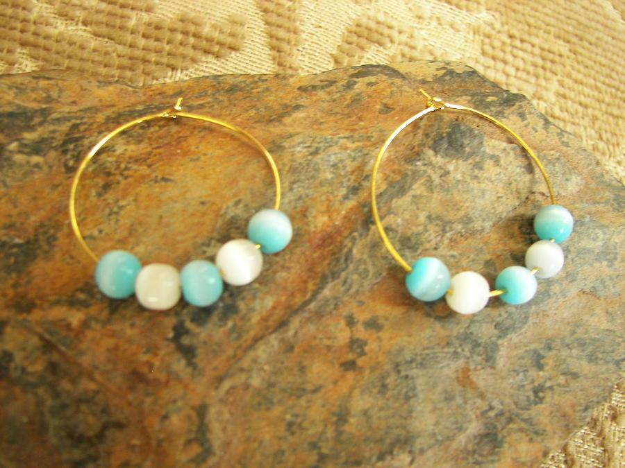 Earrings  Jewelry - Aqua Sea Glass by Dancing StarInc