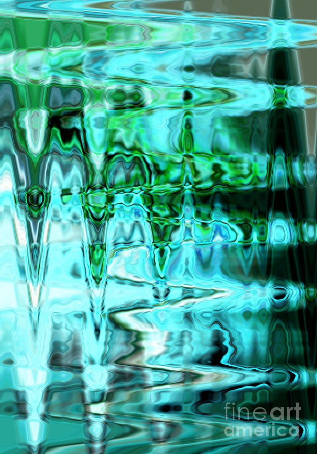 Aqua Swirls Photograph