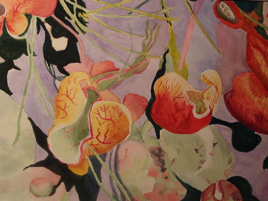 Aquatic Painting - Aquatic Pitcher Plants by Carol Marcus