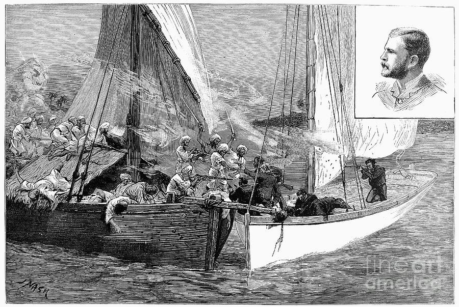 Arab Slave Trade, 1887 Photograph